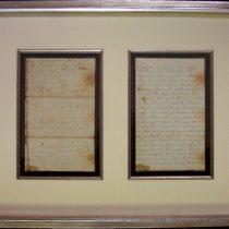 Civil War Letter, Back
