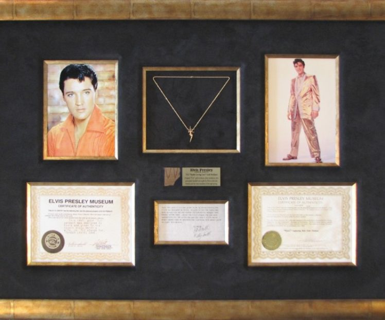 Elvis Necklace<br>Collage<br>Shadowbox