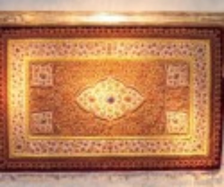 Handcarved<br>Cornice<br>Box-Persian Rug