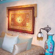 Handcarved Cornice Box-Persian Rug