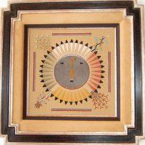 Hopi Sand Painting-Hand-Carved Frame