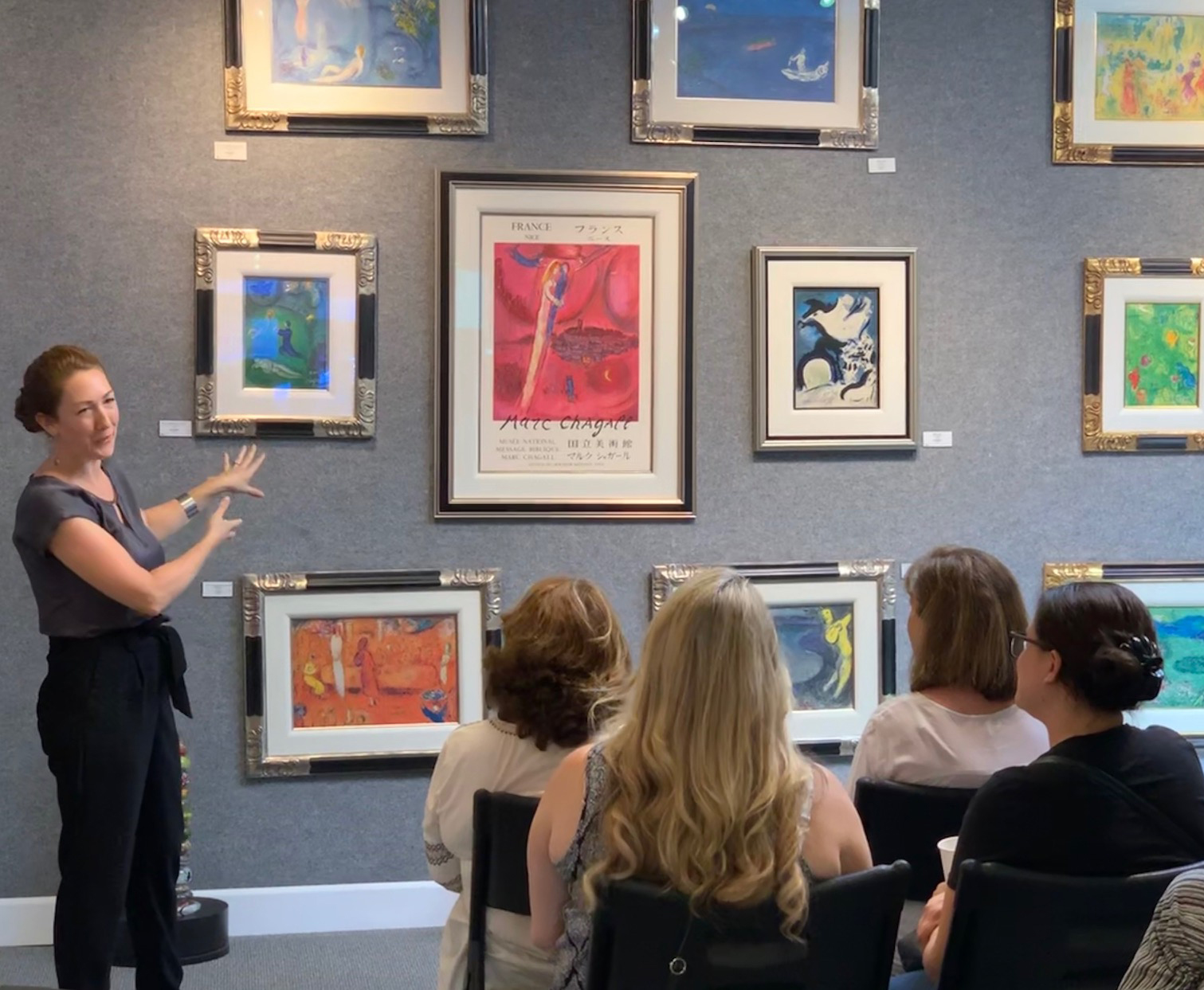 "Trisha Zetterberg, owner of Art and Frames, recently hosted a presentation on ""the most romantic and well-loved artist of the 20th century,"" Marc Chagall. The Meaning and Metaphor topic examined the framed original, signed lithographs of some of his works, notably illustrations of the Greek tragedy, ""Daphne and Chloe"" displayed in her gallery."